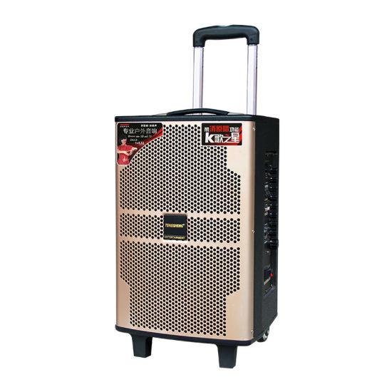 Lead Acid 12V 7.5ah Battery Temeisheng Qx-1020 PA Karaoke 10 Inch DJ Active Powered Portable Rechargeable Trolley Audio Speaker