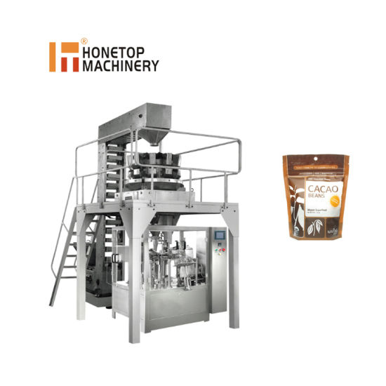 Automatic Microwave Popcorn Packaging Equipment Suppliers for Zipper Lock Stand up Bag Packaging Machine