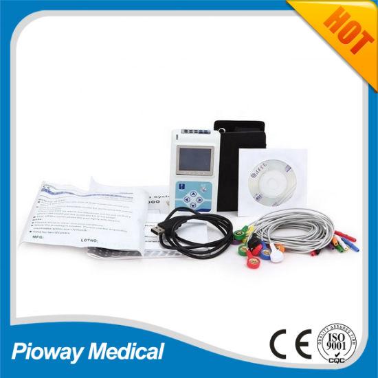 Medical Equipment Portable 12 Leads Holter ECG, EKG Monitor (TLC5000)