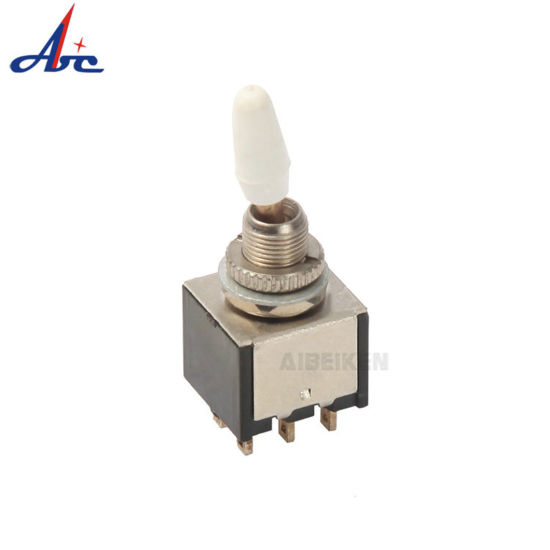 6-Pin DPDT Toggle Switch ON-OFF-ON Panel Mount Type