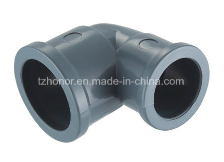 PVC 90 Deg Equal Elbow Water Supply Pressure Pipe Fitting DIN Standard NBR5648 (T03) pictures & photos