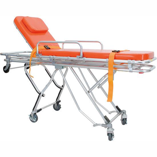 FDA Factory Low Price Medical Aluminum Loading Ambulance Stretcher Trolley