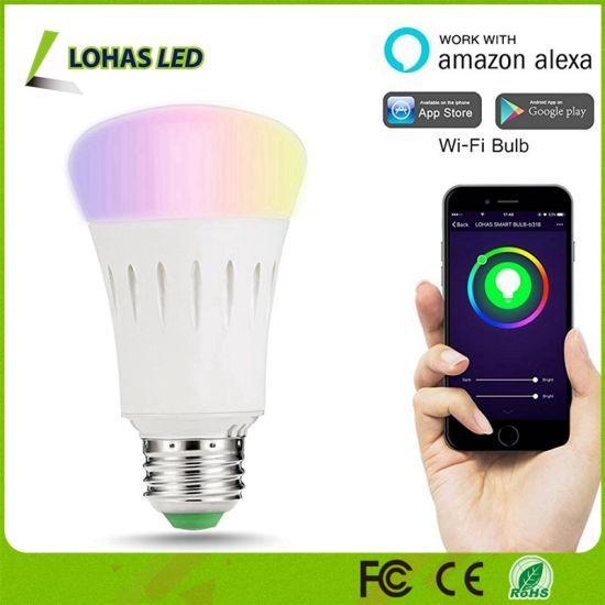 Top Selling UL Listed 9W A19 RGB WiFi Smart LED Bulb