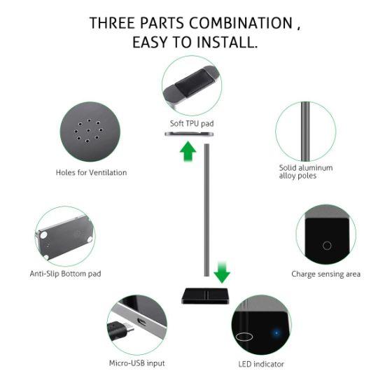 China Wireless Charger Wireless Charging Headphone Stand Aluminum