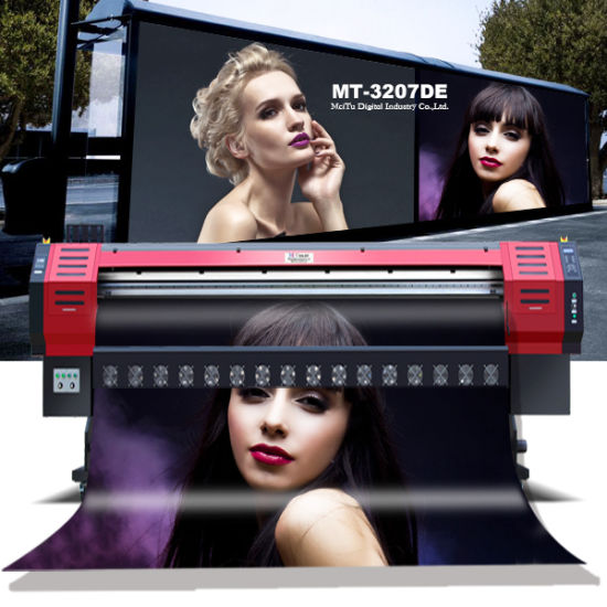 Professional 3.2m Large Format Inkjet Eco Solvent Printer Flex Banner Digital Printing Machine