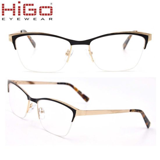 6296ca075 Half-Rim Cat Eye Latest Wenzhou Manufacturer Shenzhen Spectacle Eye Glasses
