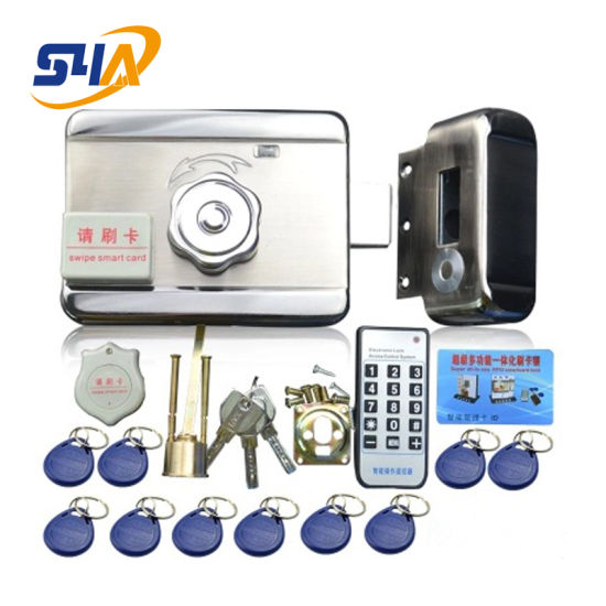 Integrated Keyless Door Lock with a Remote or RFID Card Tag to Open The Door