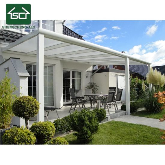 Terrace Patio Roofing With Glass Sliding Doors