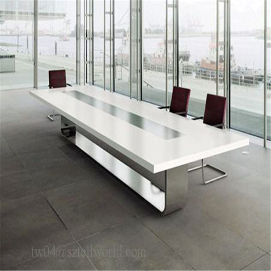 China Modern Acrylic Solid Surface Person Conference Table For - 20 person conference table