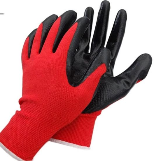 Cheap Nylon/Spandex Knitted Liner Crinkle Latex Coated Gloves on Palm with Good Grip and Wear Resistance