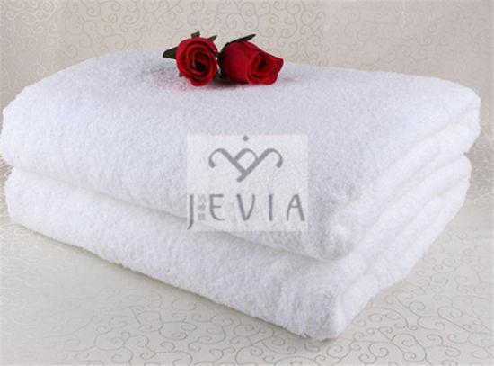 Luxury Customized White 100% Cotton Embroidered Washcloth/ Hotel Bath Towel