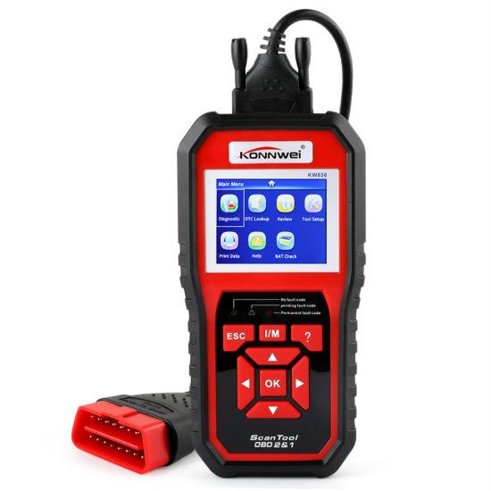 Konnwei Kw850 Full OBD2 Car Diagnostics Tool Kw 850 Obdii Auto Scanner Pk Ad310 Nt301 Update Free on PC