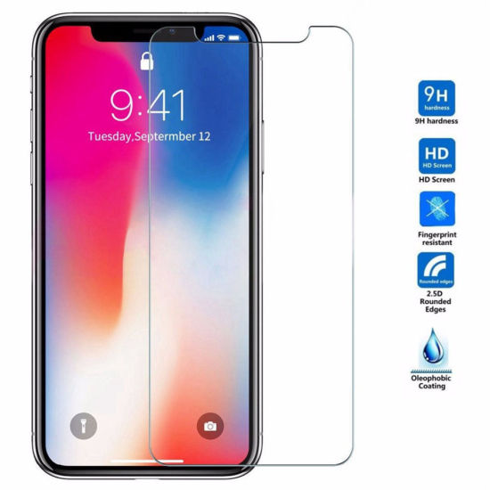 59d61bbe2ba 9h Tempered Glass Screen Protector for iPhone Xr Xs Xs Max X 8 8 Plus 7 7  Plus 6 6 Plus