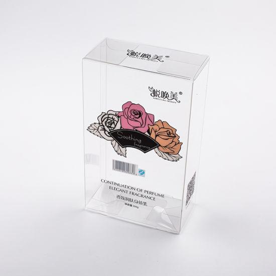 High Quality Custom Logo Cosmetic Clear Plastic Packaging Box