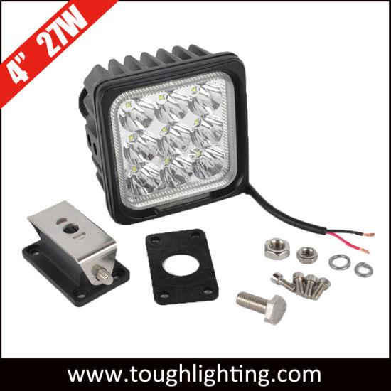 "LED Lighting Automotive 12V 24V 4"" 27W Square CREE LED Flood Lamp"