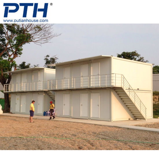 China Ecnomical Prefabricated Site Container House Price in Indonesia pictures & photos