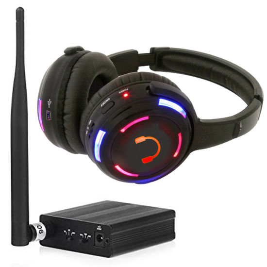 UHF 863 500 Meters Transmitter Wireless Disco Silent Party Headphone