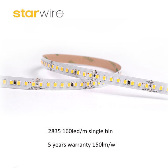 High Brightness 160LED 224LED 3024lm/M 150lm/W 2835 LED Strip Light with 5 Years Warranty pictures & photos