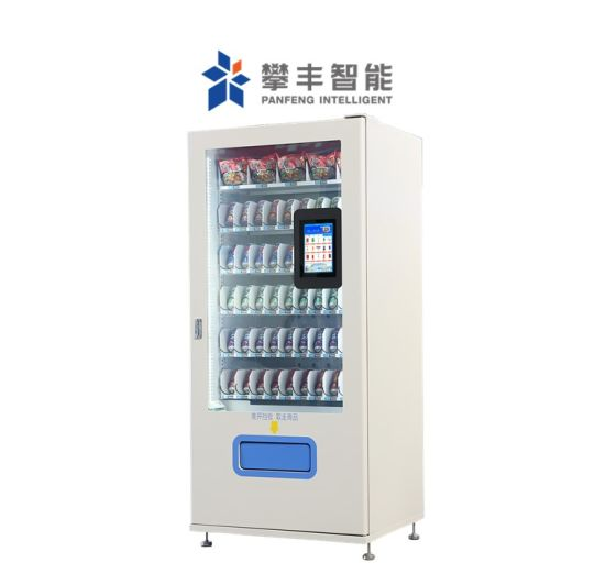 24h Water Combo Snack Coffee Popcorn Drink Food Commercial Juice Cigarette Condom Sheet Metal Automatic Vending Machine with Auto Scanner Kiosk