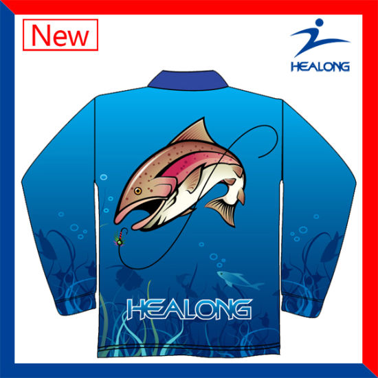 3D Thermal Transfer Printing Sublimated Fishing Jersey pictures & photos