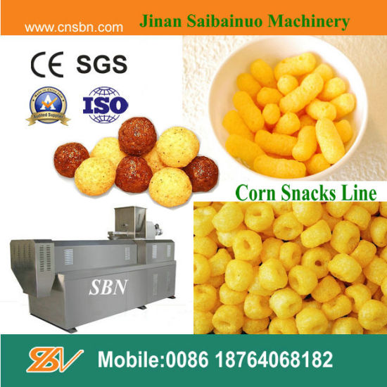 Industrial Puffed Corn Snacks Food Machine pictures & photos