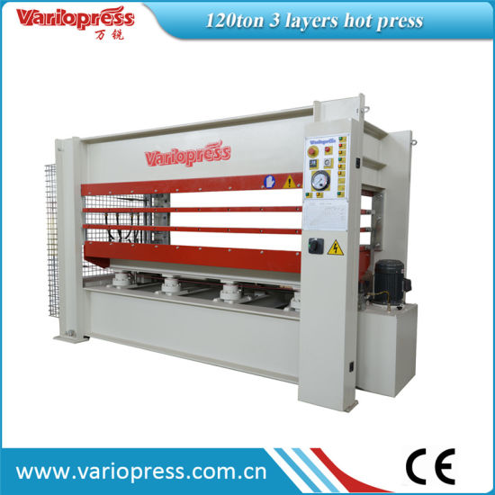 120ton 3 Layers Veneer Hot Press pictures & photos
