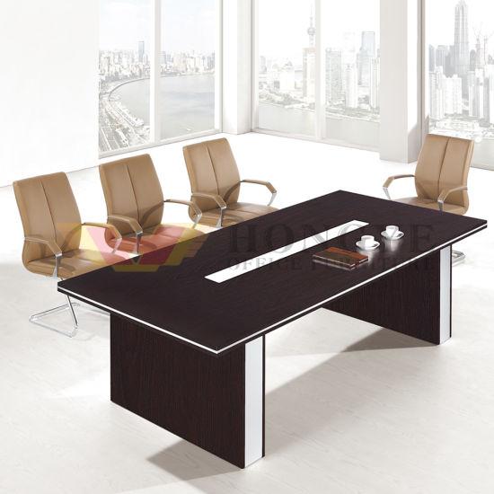 Inexpensive Meeting Room Use Oak Grain Office Furniture Hy H06
