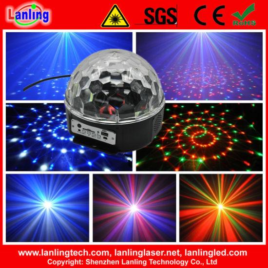6W Rgbywv LED Crystal Disco Ball Light MP3 with Remote Control