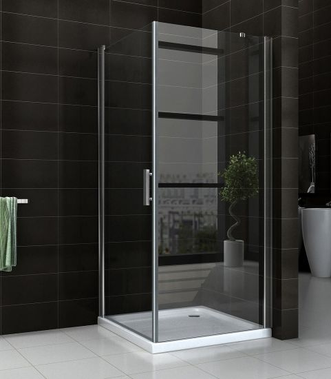 8mm Glass Square Chromed Hinge Shower Bath Cabin China pictures & photos