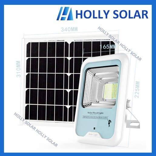 Solar LED Floodlight with Remote Control 12W Automatically Turned on When Dark
