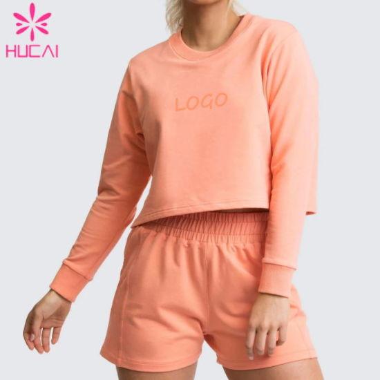 Custom Logo Women Breathable Cotton Sweatshirts