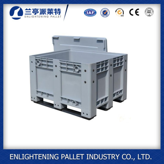 Hot Sale Plastic Pallet Bulk Container with Wheels