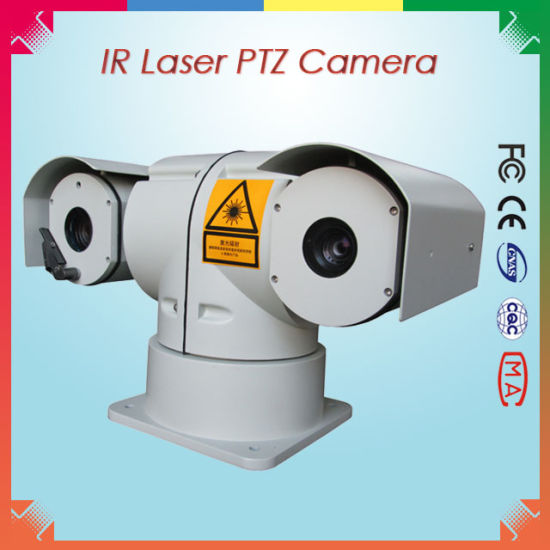 Security PTZ Laser Camera for 400m Detection
