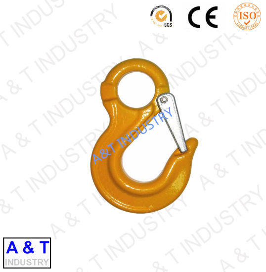 Swivel Lifting Construction Alloy Steel Eye Hoist Hook for Chain pictures & photos
