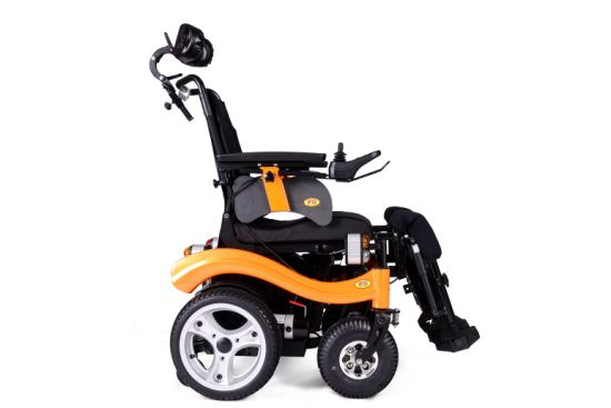 "Hot Selling Electric Power Wheelchair with 16"" Wheels Aluminum Alloy and Rims pictures & photos"