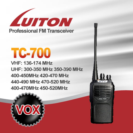 Walkie Talkie Tc-700explus Two Way Radio pictures & photos
