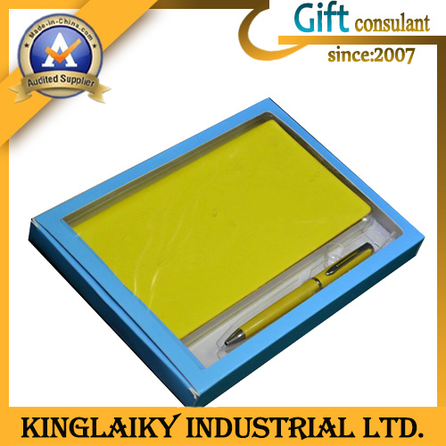Leather Notebook Gift Set for Promotion (P017)