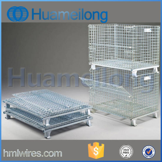 Heavy-Duty Rigid Steel Foldable Wire Mesh Container pictures & photos