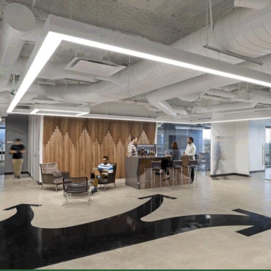 Suspended Linear Light Hanging Light For Modern Office Lighting