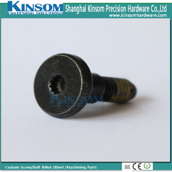 Special High Strength 12.9 Grade Round Six Lobe Head Step Screw with Yellow Nylon Coating pictures & photos