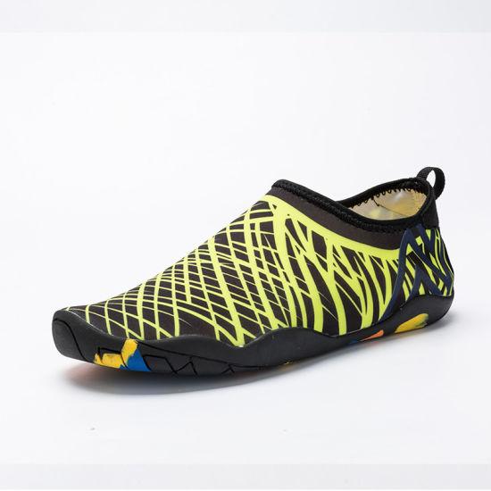 cdcf4c7e2be2 Water Shoes Mens Womens Beach Swim Shoes Quick-Dry Aqua Socks Pool Shoes  for Surf Yoga Water Aerobics Esg10368