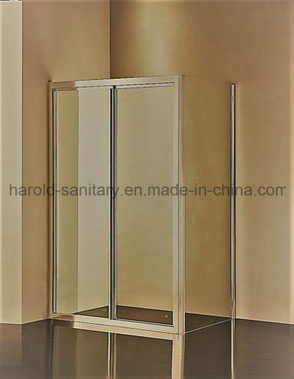 China Aluminium Profile Handle Frame Sliding Shower Cabin - China ...
