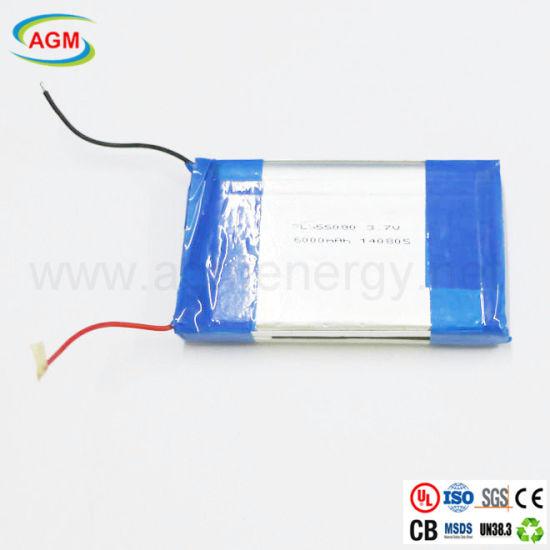 Lipo Battery Pl655080 3.7V 6000mAh Polymer Lithium Ion Battery
