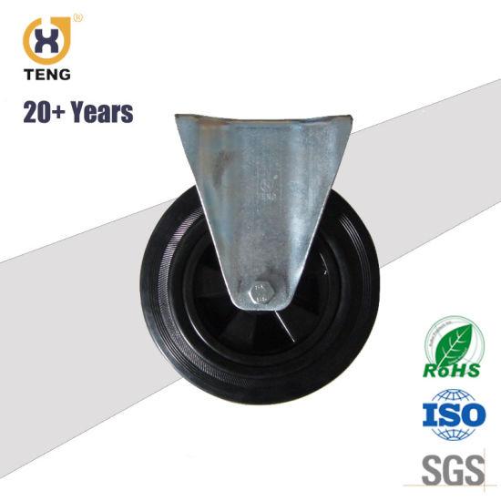 Waste/Garbage Bin Caster Heavy Duty Solid Rubber Wheel