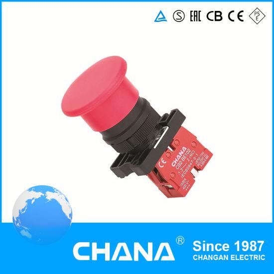 Mushroom Rotaion Auto-Reset Emergency CB2 Pushbutton Switch