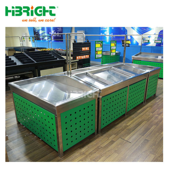 Shopping Mall Display Metal Wooden Display Rack pictures & photos