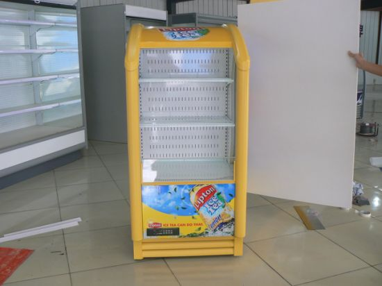 Small Cabinet Supermarket Red Bull Style Open Air Chiller with Ce, CB Approved pictures & photos