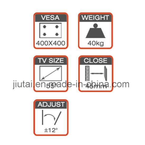 Full-Motion TV Wall Mount Fit for 21-55′′ with Strong Arm pictures & photos