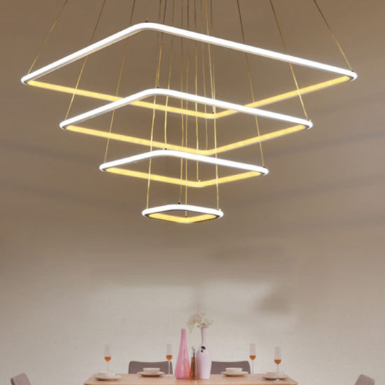 Modern Individual Acrylic Pendant Lights Square Pendant Lamp (WH-AP-37)