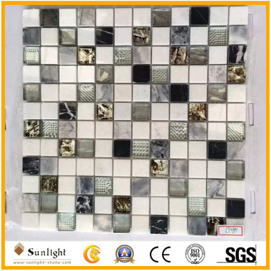 Floor Tile Building Materials Stained Glass/Mirror/Crystal Mosaic
